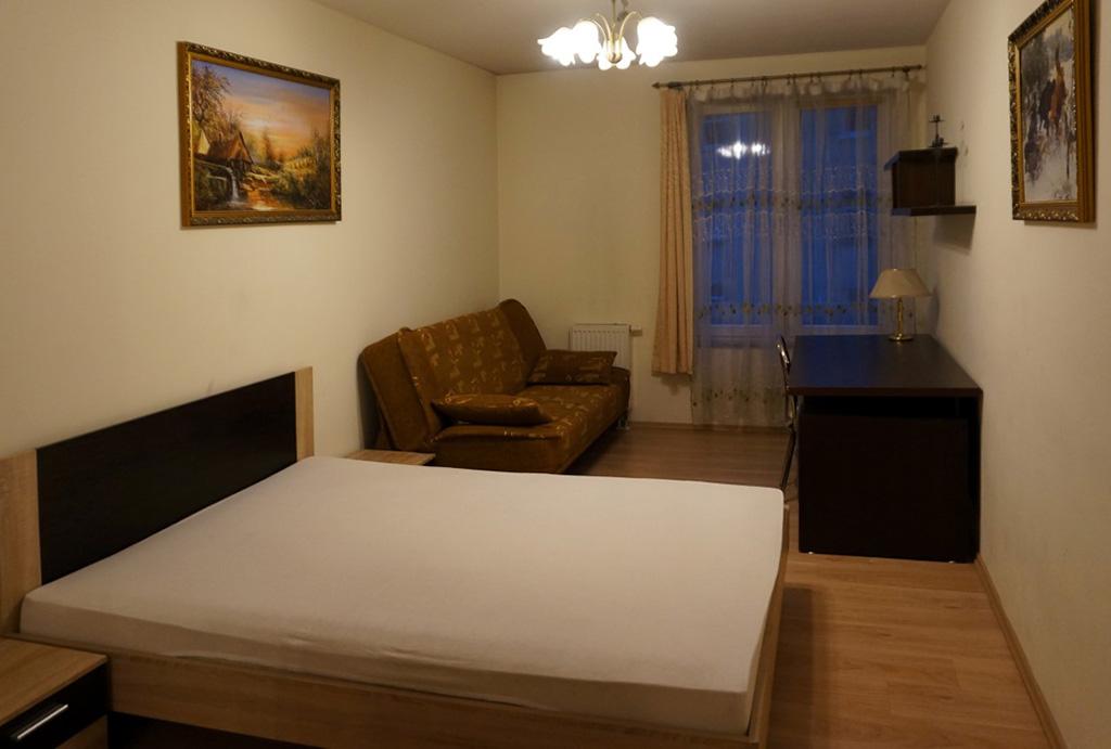 elegancka sypialnia w mieszkaniu do wynajmu Wrocław Śródmieście