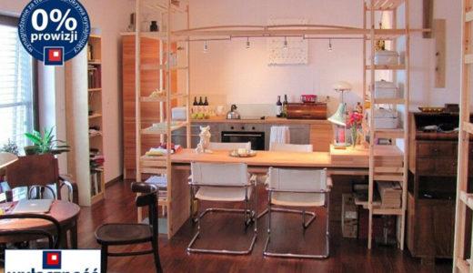 widok od strony jadalni na salon w mieszkaniu do wynajęcia Wrocław Stare Miasto