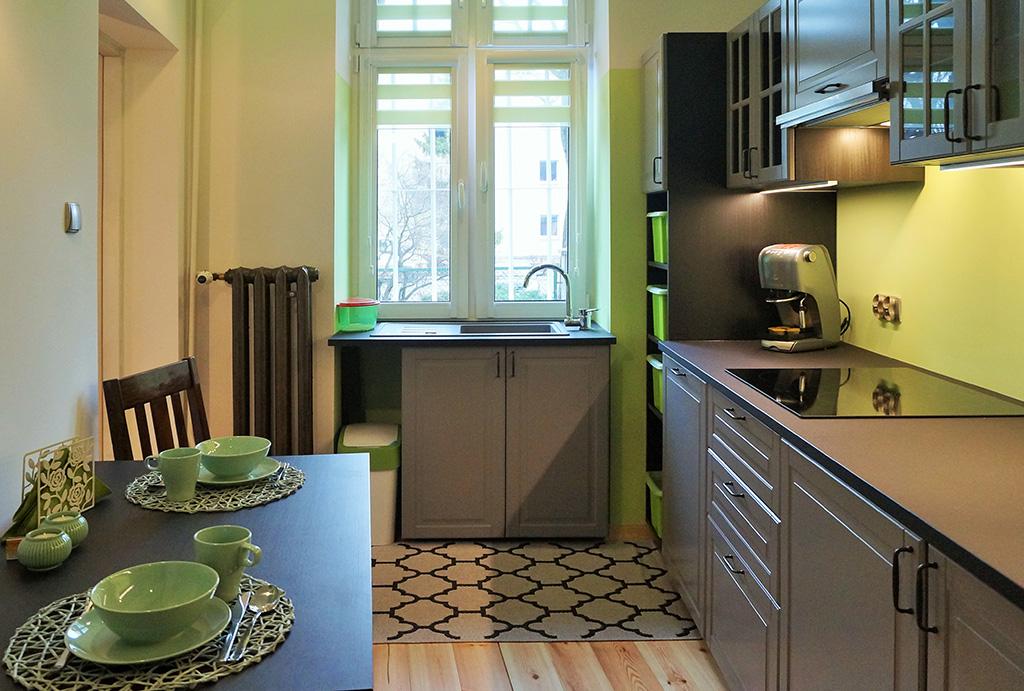 funkcjonalna kuchnia w mieszkaniu do sprzedaży Wrocław Śródmieście