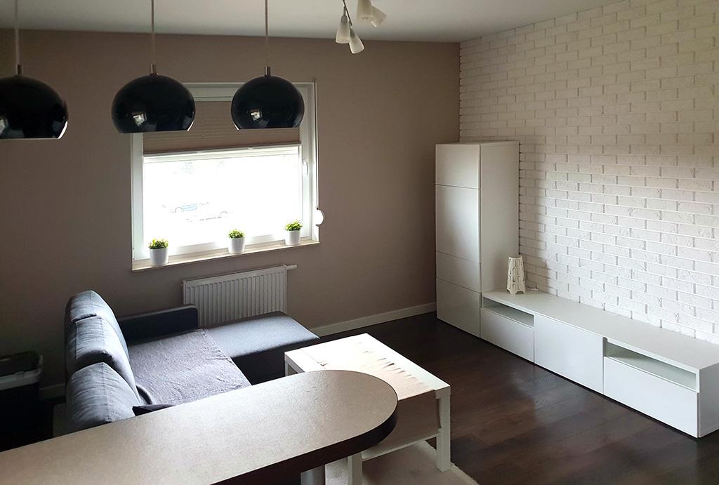 komfortowy salon w mieszkaniu do wynajmu Wrocław Kiełczów