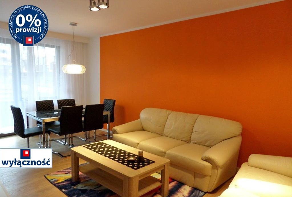 na zdjęciu elegancki salon w mieszkaniu do wynajęcia Wrocław Fabryczna