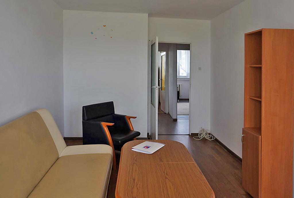 widok na salon w mieszkaniu do wynajęcia Wrocław Fabryczna