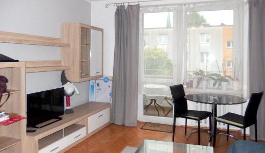 komfortowy salon w mieszkaniu na sprzedaż Wrocław Krzyki