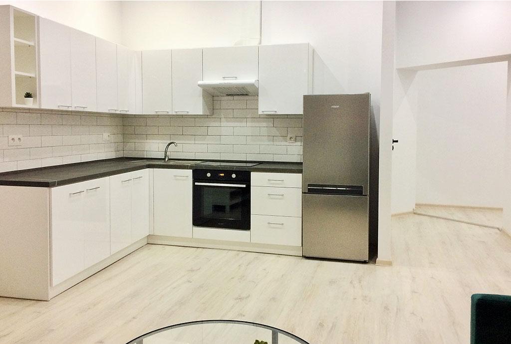 kuchnia w nowoczesnej zabudowie w mieszkaniu do wynajmu Wrocław Krzyki
