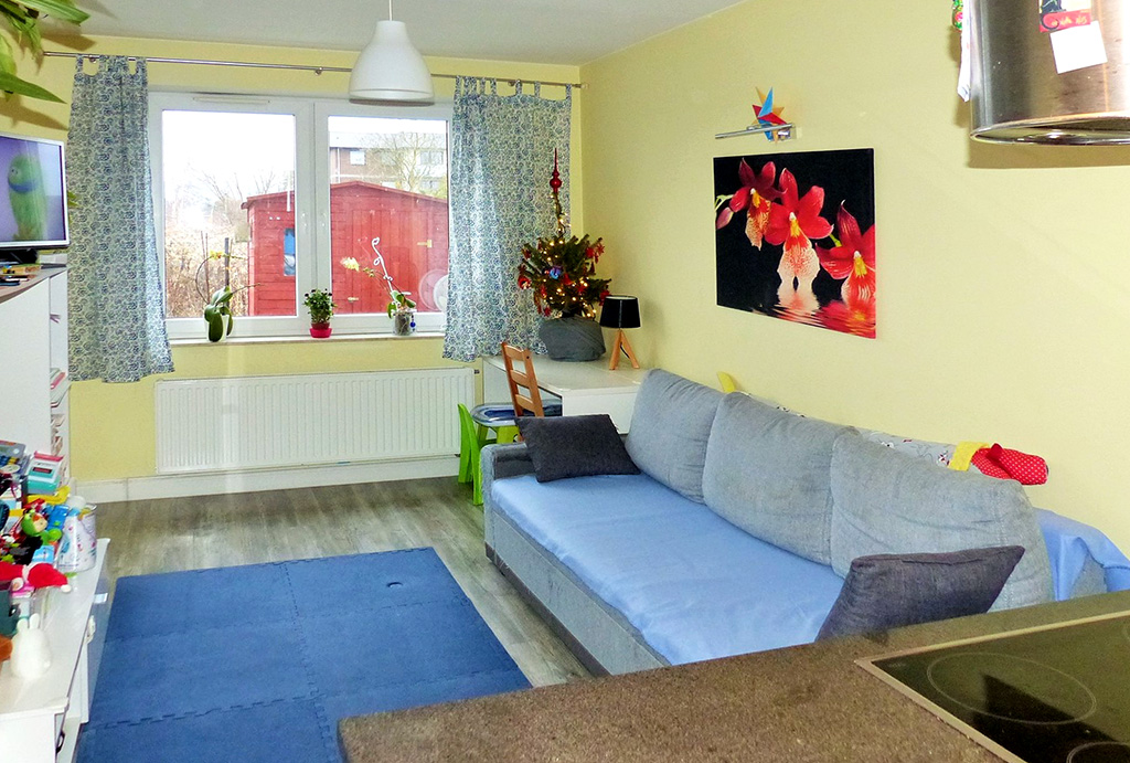 komfortowy pokój dzienny w mieszkaniu do sprzedaży Wrocław Psie Pole