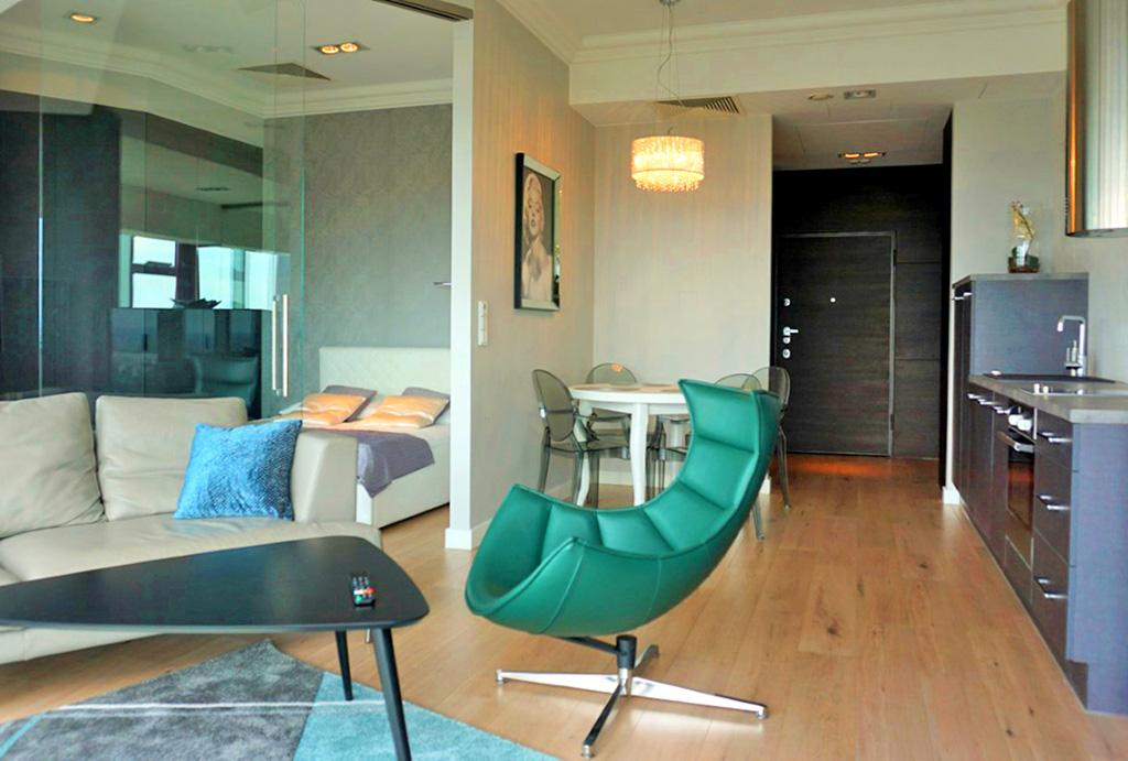 funkcjonalny rozkład pomieszczeń w ekskluzywnym apartamencie do wynajęcia Wrocław Krzyki