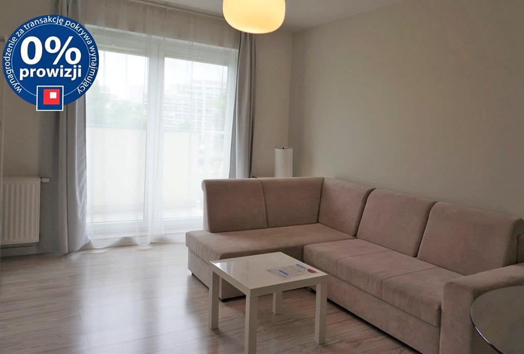 umeblowany salon w mieszkaniu do wynajęcia Wrocław Krzyki
