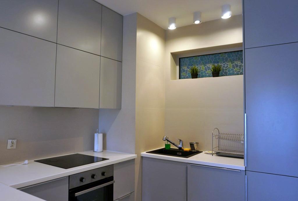 kuchnia w nowoczesnej zabudowie w mieszkaniu na wynajem Wrocław Krzyki