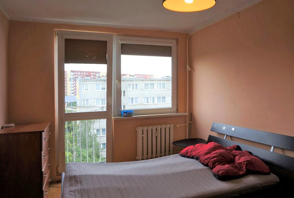 zaciszna sypialnia w mieszkaniu do sprzedaży Wrocław Psie Pole
