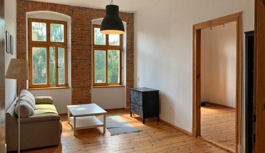 stylowe wnętrze salonu w mieszkaniu do sprzedaży Wrocław Krzyki