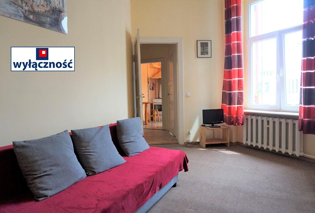 wygodny pokój dzienny w mieszkaniu do wynajmu Wrocław Stare Miasto