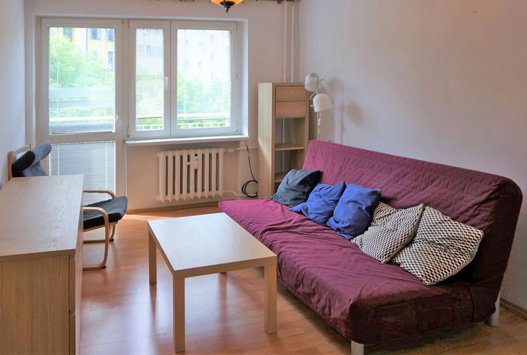 druga strona salonu w mieszkaniu do wynajęcia Wrocław Stare Miasto
