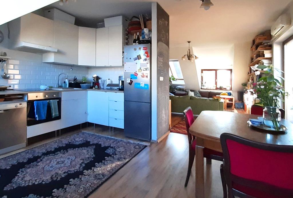 komfortowy salon w mieszkaniu do sprzedaży Wrocław Krzyki