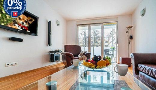 komfortowy pokój dzienny w mieszkaniu na sprzedaż Wrocław Centrum