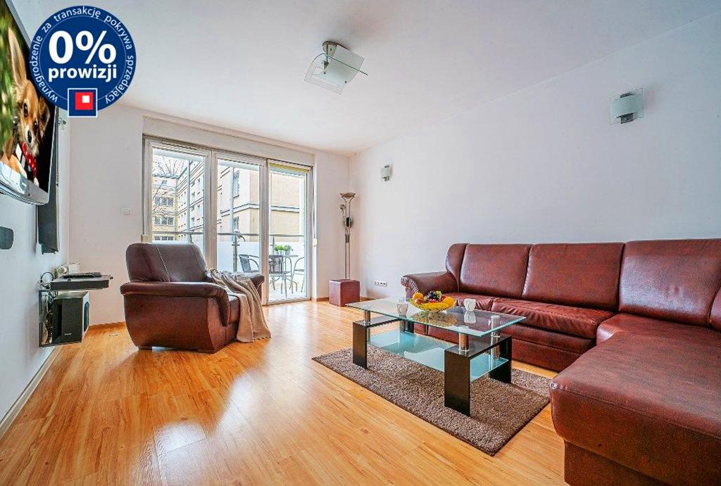 widok na salon w mieszkaniu na sprzedaż Wrocław Centrum
