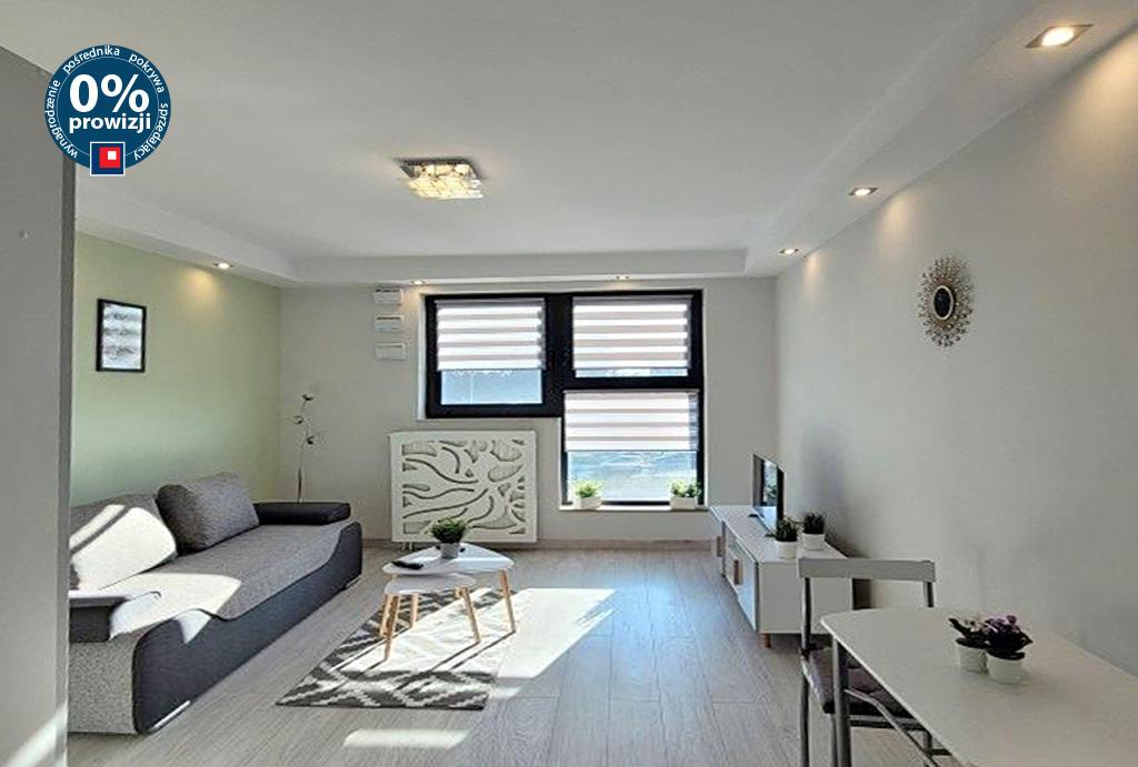 nowoczesny salon w mieszkaniu do wynajęcia Wrocław Fabryczna