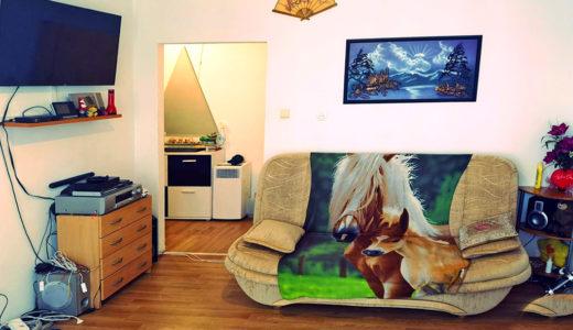 oryginalnie urządzony salon w mieszkaniu do sprzedaży Wrocław Grabiszyn