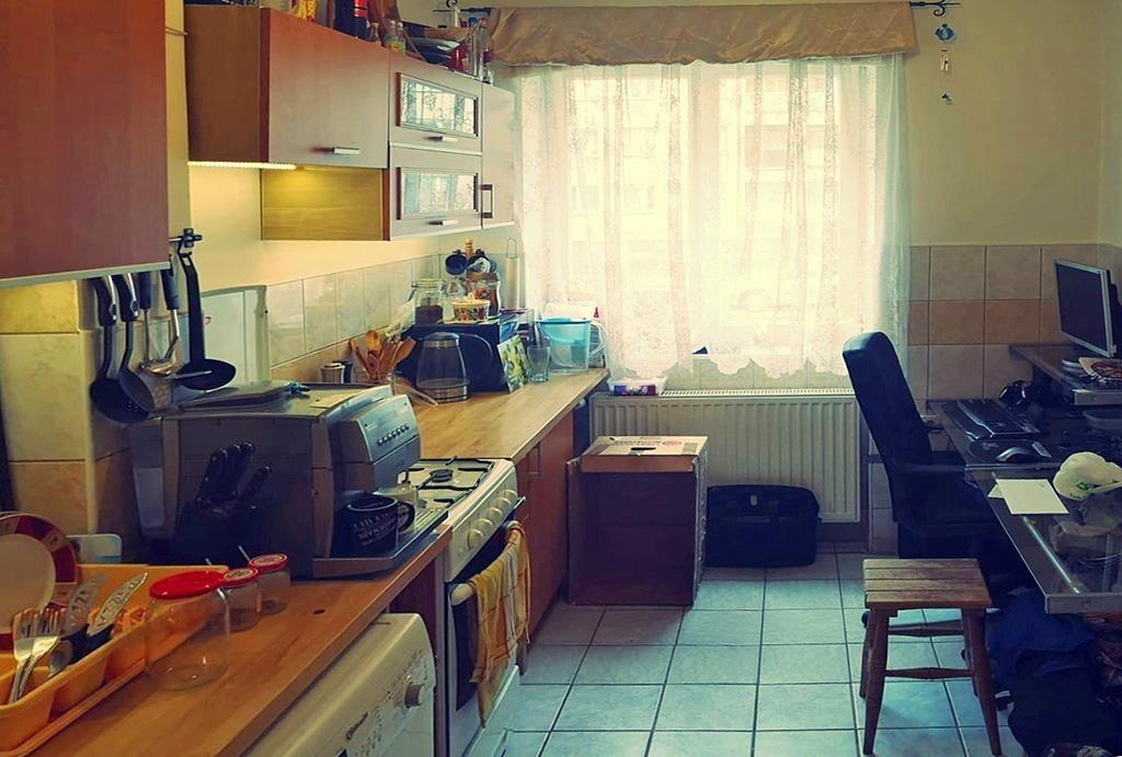 zabudowana stylowo kuchnia w mieszkaniu do sprzedaży Wrocław Grabiszyn
