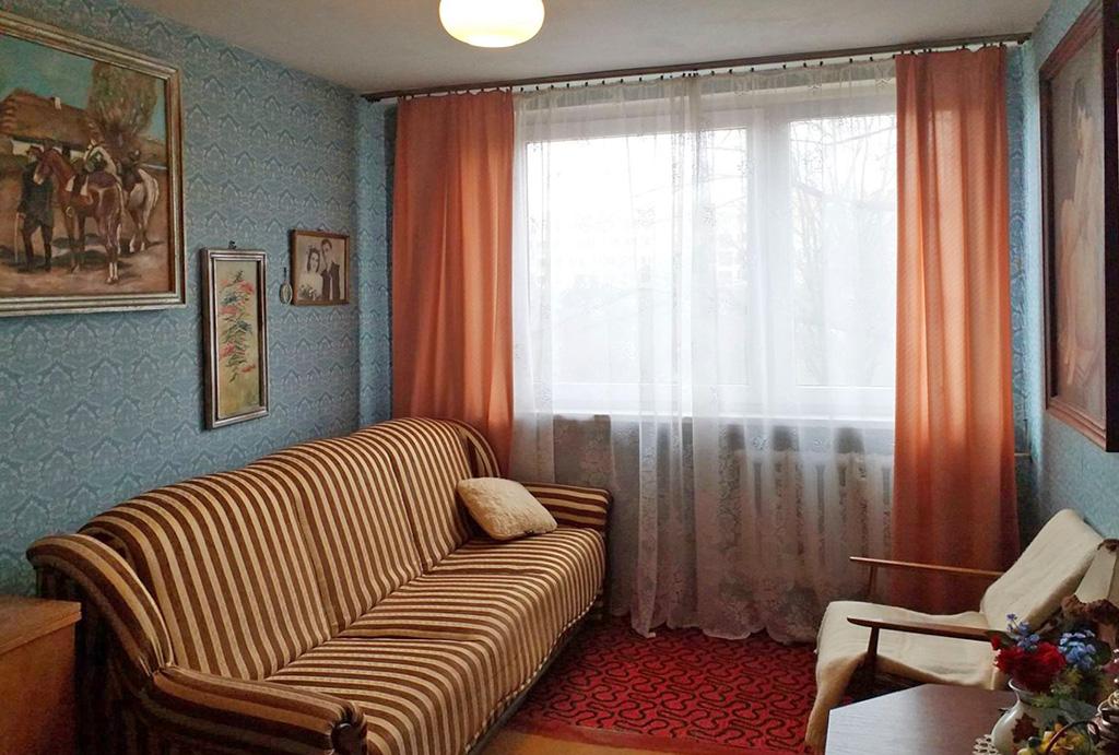 kameralny salon w mieszkaniu do sprzedaży Wrocław Psie Pole