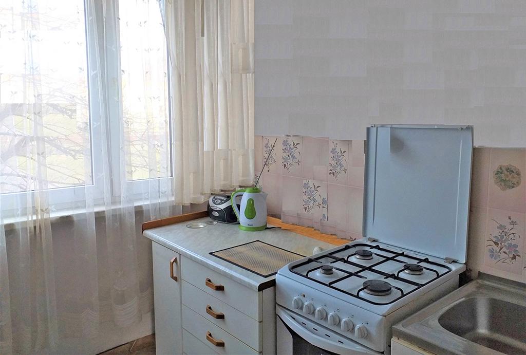 fragment kuchni w mieszkaniu na sprzedaż Wrocław Psie Pole
