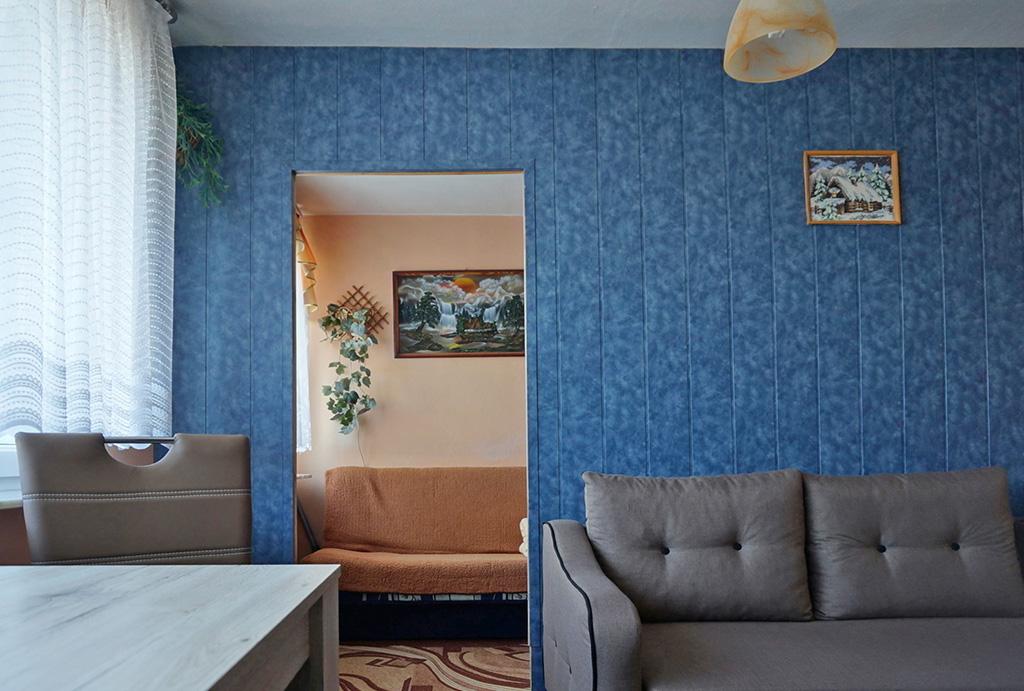 fragment pokoju gościnnego w mieszkaniu do sprzedaży Wrocław Krzyki