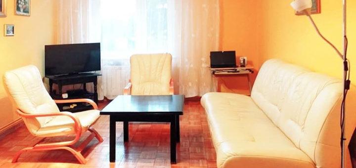 stylowy salon w mieszkaniu do sprzedaży Wrocław (okolice)