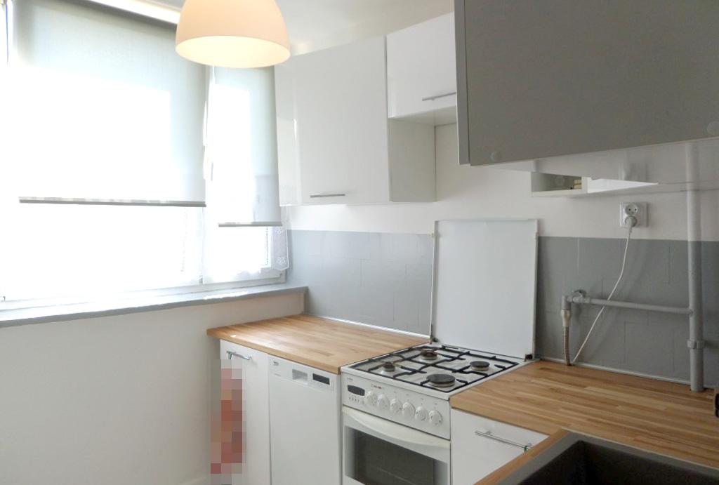 funkcjonalna kuchnia w mieszkaniu do wynajmu Wrocław Psie Pole