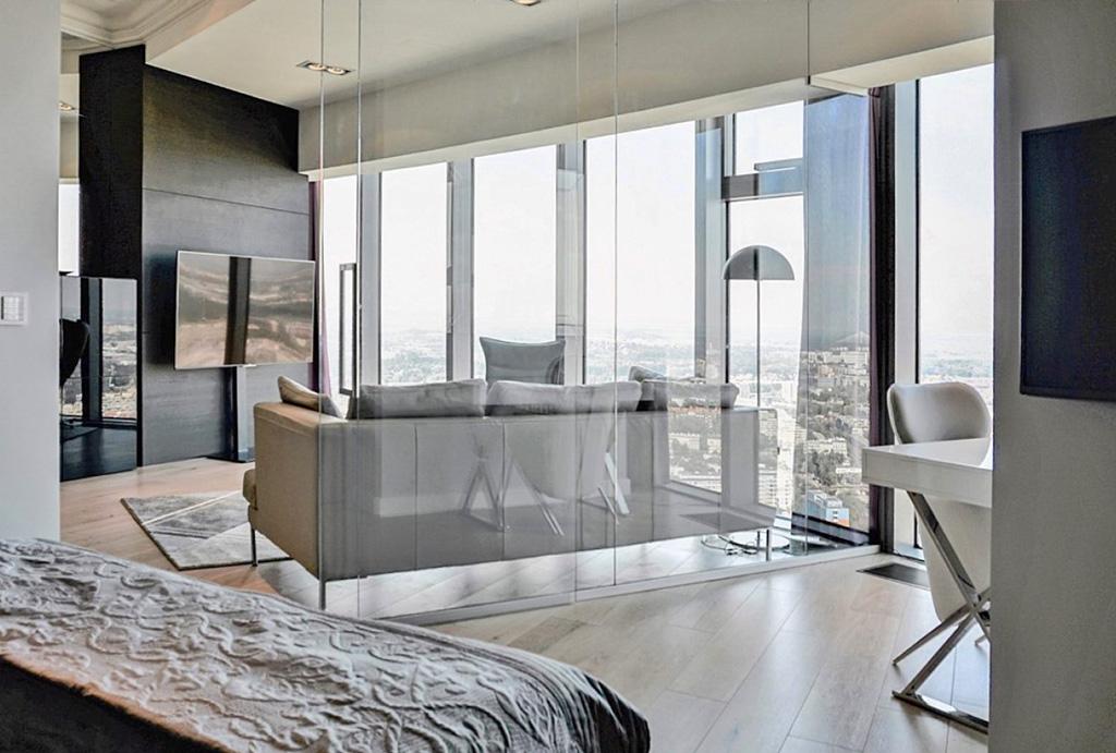 zaprojektowane w nowoczesnym designie wnętrze apartamencie do wynajmu Wrocław